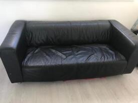 Ikea faux leather sofa