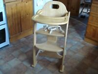 High Chair Mothercare East Coast wooden