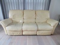 3 seater and 2 seater matching leather recliner sofas by Natuzzi