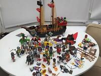 Playmobil pirate ship, Pirates, soldiers, horses and other playmobil figures