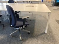 3 White High quality 2-pod/bench/hot desk Office/Business/Meeting Tables/Desks