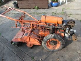 Howard 'GEM' Rotovator complete.. JAP engine (running) c.1951 ..needs tyre. Nice project for exhibit