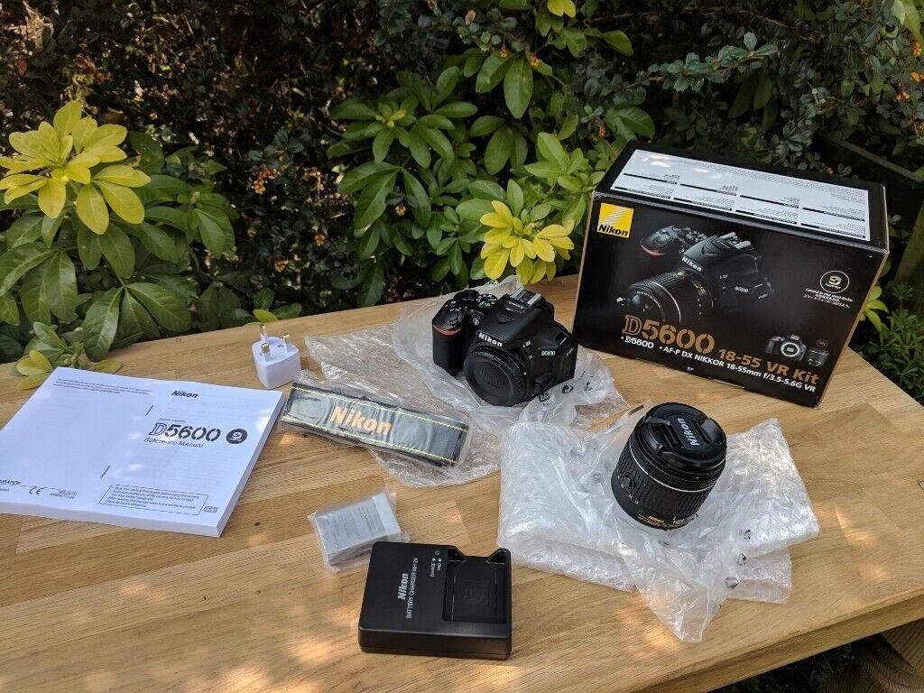 Nikon D5600 + 18-55mm VR Lens - BOXED New DSLR Camera  | in Brandon, County  Durham | Gumtree
