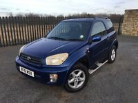 2002 51 TOYOTA RAV 4 2.0 NRG VVTI *AUTOMATIC* 3 DOOR KEEP - DECEMBER 2017 M.O.T - GOOD EXAMPLE!