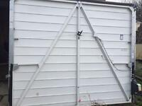 8' x 7' up & over white electric garage door