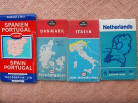 2 vintage Michelin Road Maps + 4 other vintage road maps