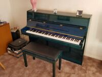 Immaculate blue upright Crane & Sons Piano for sale and matching stool. Any test welcome.