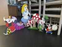 Alice in wonderland custom wooden props