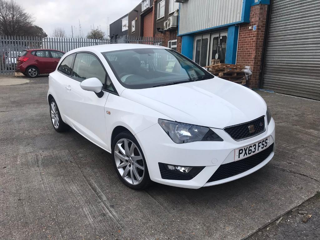 2013 lovely seat ibiza 1 2 tsi fr sport coupe white 3dr 1 year mot low mileage 44000 cat d in - Seat ibiza sport coupe fr ...