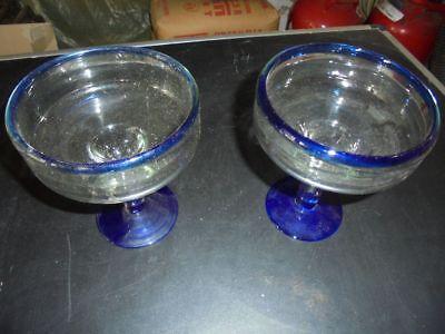 Nr. 18 12 Stück Potpourrischalen Dekoschalen Glas blau/weiß Wiederverkäufer