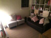 IKEA STRANDMON footstool light grey x2 pouffe ottoman