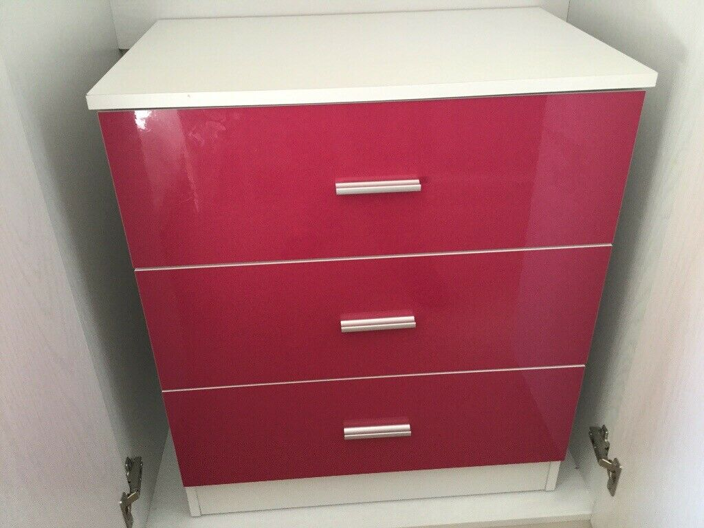 Girls Bedroom Furniture Drawers Wardrobe Side Table 6 Months Old