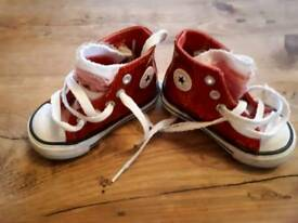 Converse Baby Girl size 4 ankle boots
