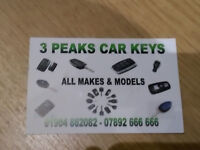 ALL MAKES AND MODELS OF CAR KEYS SUPPLYED CUT AND CODED