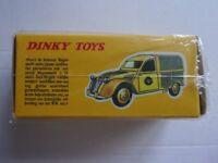 1965 DINKY CITROEN 2CV WEGENWACHT. AUTHENTIC DIECAST MODEL. MANUFACTURED BY NOREV IN FRANCE.