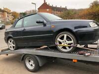 Golf 1.6 spares or repair. Roof not working