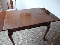 Vintage Extendable Dining Table, Oak? Dark Wood, plus 4 Matching Chairs