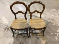 Antique chairs balloon back