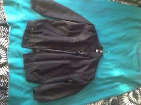 Black Thin Bomber Jacket XL