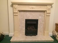 Baxter Gas Fire and Surround for Sale