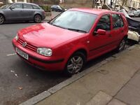 VW Golf Match 1.4 Petrol Manual 2004 Red in good condition 5dr 85400 miles
