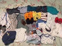 4 x baby boys clothes bundle ages 0-12 months