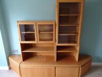 Natural Oak Living Room Furniture Set