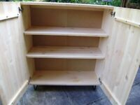 Bookcase / storage cupboard by IKEA, pine wood, only 1.5 years old,good condition