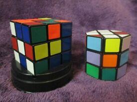 2 x Vintage Rubiks Cubes