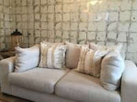 Cream Next Sofa (2 seater) free delivery