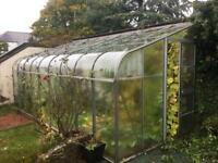 6x2.4m Halls Lean-to Greenhouse