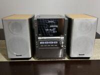 Panasonic SA-PM28 Micro Hi-Fi Stereo Radio 5 CD Changer Tape Player AUX & Remote
