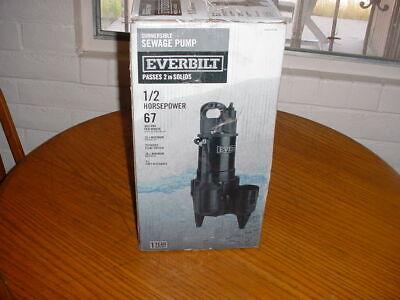 Everbilt Hdrsw50 Submersible Sewage Pump 12hp 1002 819 794