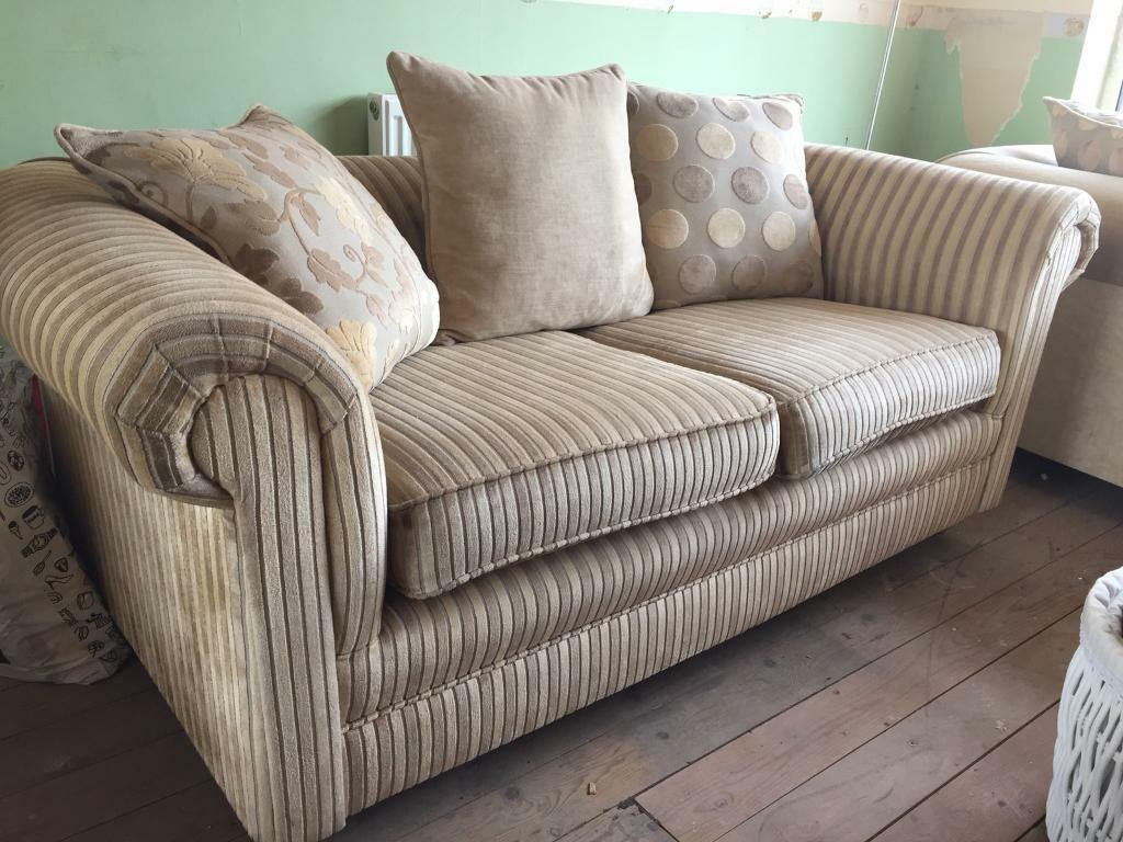 Stripe Sofa With Caster Legs