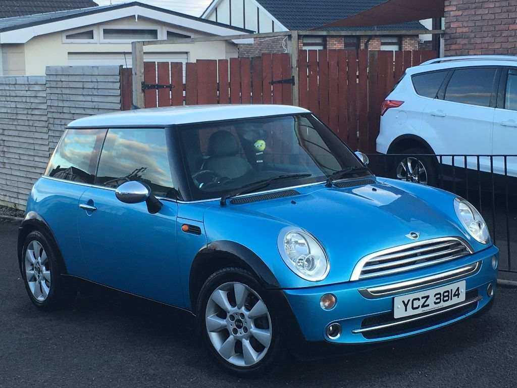 2004 Mini Cooper Leather Blue With White Roof Motd Oct 2016 Excellent Condition
