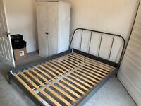 King size bed frame IKEA like new
