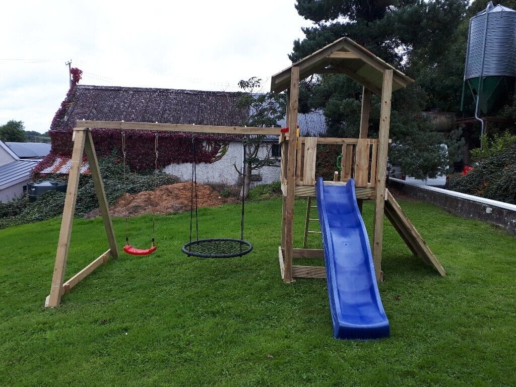 Climbing Frame With Swings And Slide