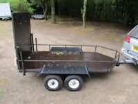 8X4 TWIN AXLE 75OKG UNBRAKED GOODS/TRANSPORTER TRAILER WITH RAMPTAIL..