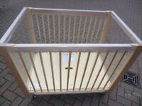 Playthings Community cot G112- Ready to go at good price. Very good condition- MUST BE SEEN!