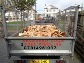SUMMER SPECIAL hardwood logs for sale plus 2 free bags of kindling,free delivery