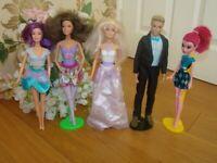 🌟Barbie,Ken,Ballerina and Monster High dolls bundle ,Wedding