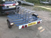 2010 CYCLE TRANSPORTER ROAD TRAILER (6 CYCLE CAPACITY) WITH LIGHTS......