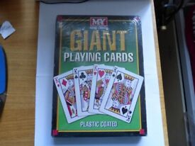 NEW - Giant Playing Cards X Large Jumbo Outdoor Garde Family BBQ Game Party Deck of 52
