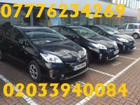 PCO Cars for Hire / Rent - Toyota Prius New Shape + Facelift (2011 to 2015 Price Start from £130