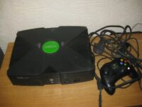 X Box original with 15 games