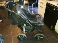 3 in 1 pram/buggy & carseat