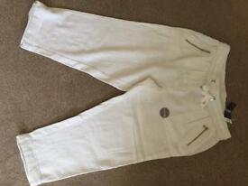 Asda crop white size 10 trousers new