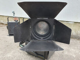 Strand Cantata Fresnel Spotlight, 1/1.2 Kw Spotlight. Complete with Barndoors.