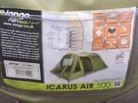 Vango Icarus Air 500 5 Person Airbeam Inflatable Tent.