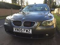2005 BMW 535d 3.0 SE AUTO DIESEL 5 Seats 4dr Saloon,GREY Color,05 Reg,123000 Miles,FSH,SAT NAV,Mint